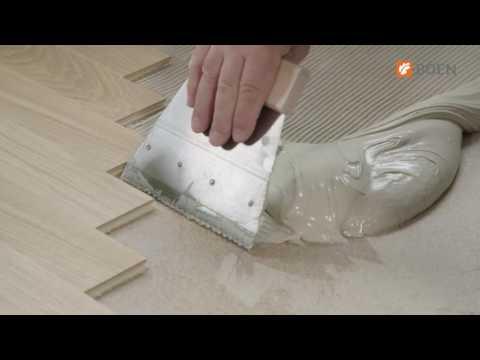 BOEN 2-layers hardwood flooring – Glue down installation instruction video