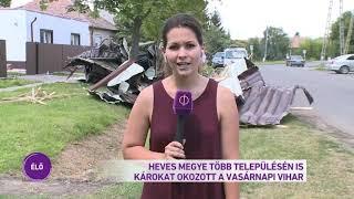 Heves megye több településén is károkat okozott a vasárnapi vihar