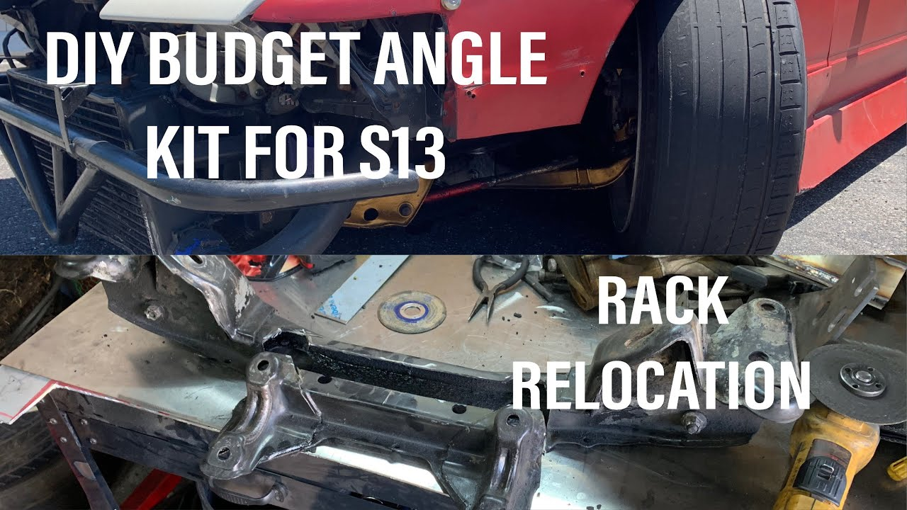 Modifying S13 Front SubFrame + Angle Parts Installed