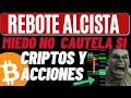 CUIDADO BITCOIN CAYENDO Y ACCIONES EB PELIGRO POSIBLE REBOTE HOY 9-21-21