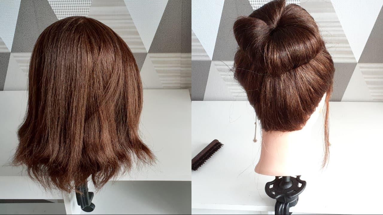 Sanggul Modern Untuk Rambut Pendek Easy Hairstyle Easy Hairbun For Shorthair Youtube