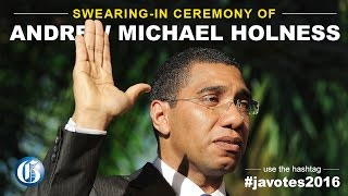 The swearing in ceremony of Mr Andrew Holness as Prime Minister of Jamaica