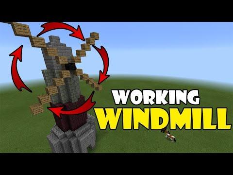 Working WINDMILL | Minecraft PE (Pocket Edition) MCPE