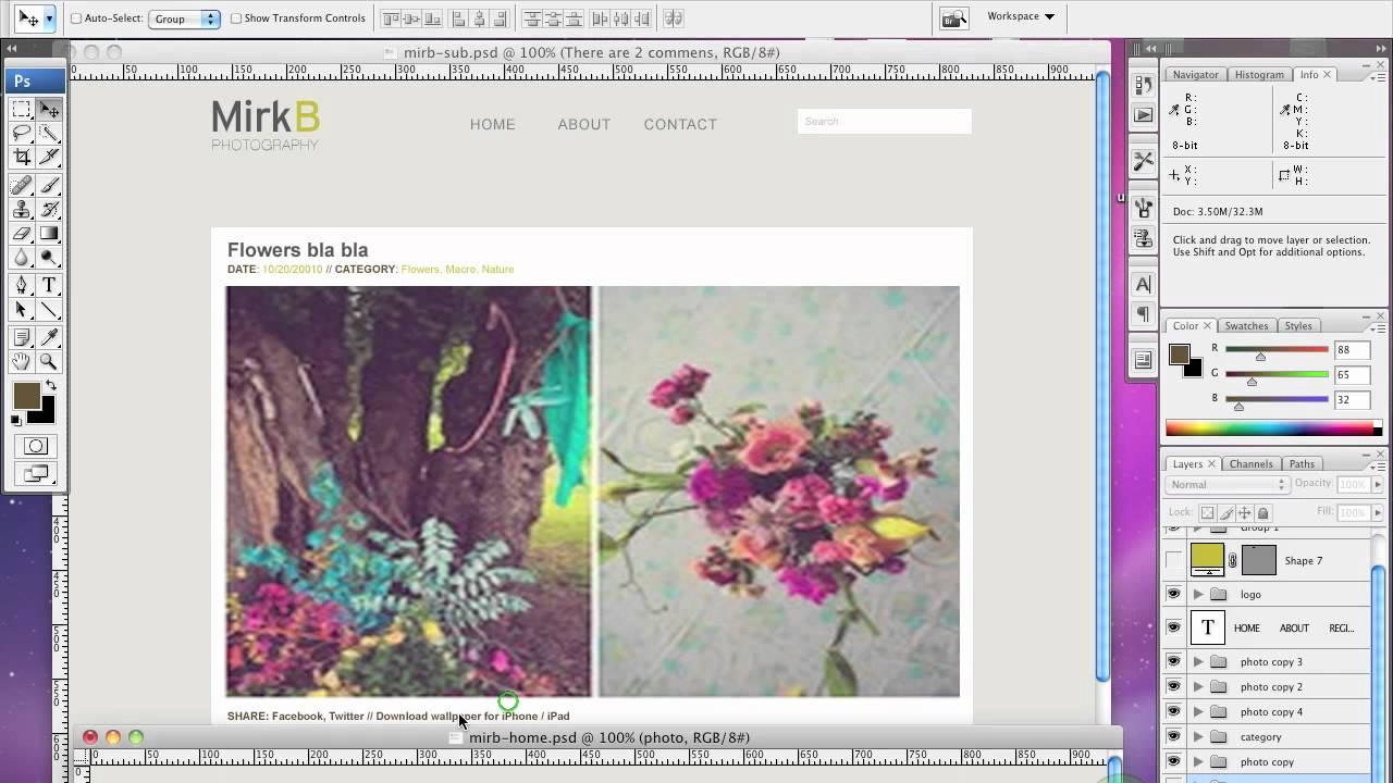 Tutorial costruzione sito web design in photoshop youtube for Design sito