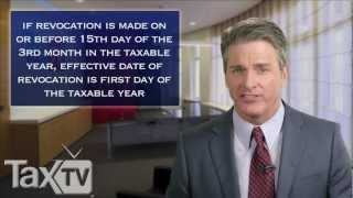 S Corporation Terminations  - www.TaxTV.com