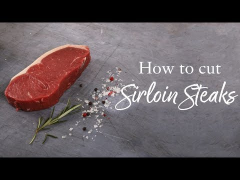 How to cut Sirloin Steaks | The Big Four | Donald Russell