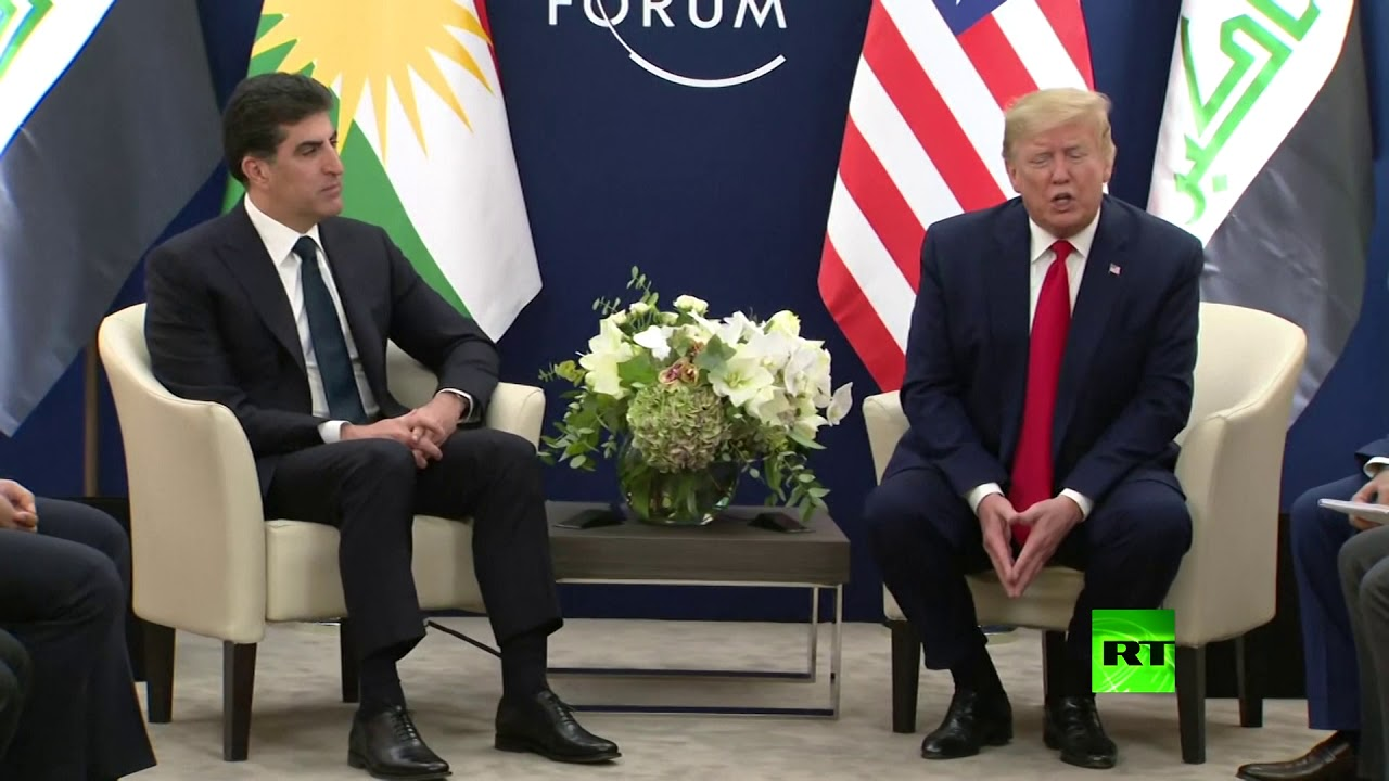 شاهد.. لقاء ترامب مع نيجرفان بارزاني في دافوس