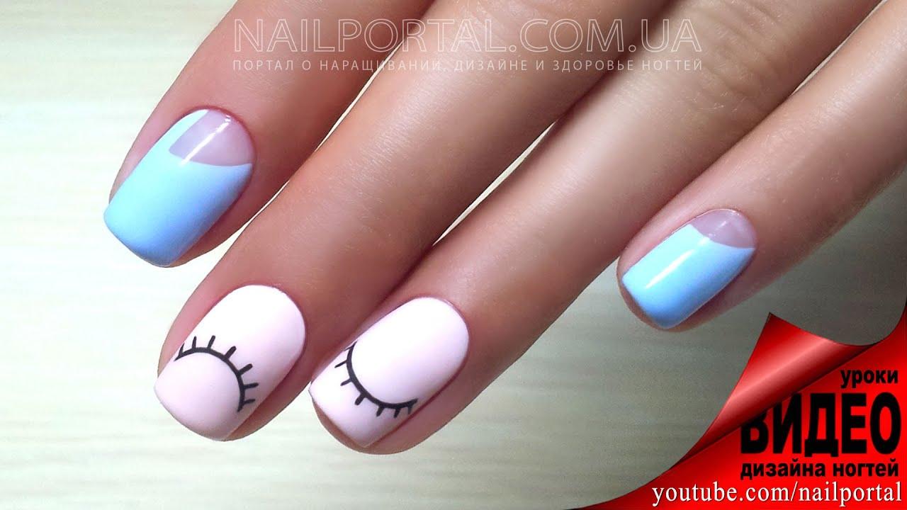 Дизайн ногтей гель лаком видео уроки