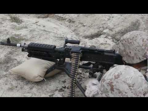FET Female Marines firing the M240B Machine Gun