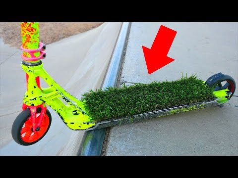 GRASS GRIP TAPE on PRO SCOOTER!