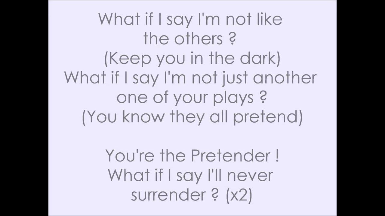Foo Fighters - The Pretender Lyrics (HD) - YouTube