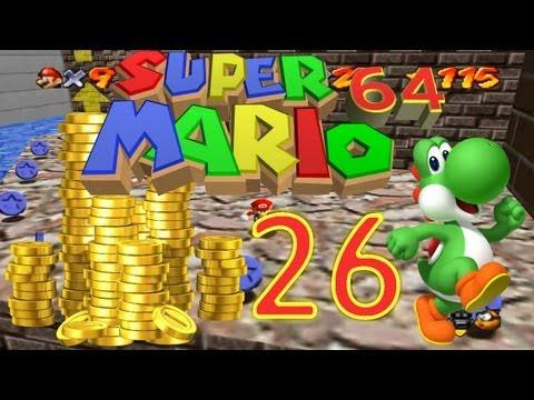 Let's Play Super Mario 64 Part 25: 100-Yellow-Coins-Stars suken und 100%-Belohnung...