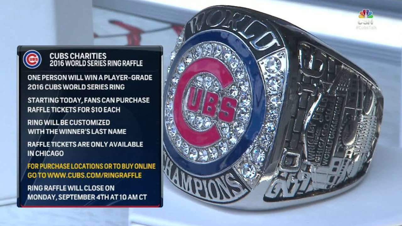 PIT@CHC: Cubs raffle World Series ring for charity