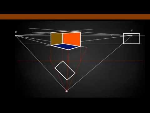 """""""Zeichnen lernen"""" Prüfungsaufgabe – Übereckperspektive konstruieren"""