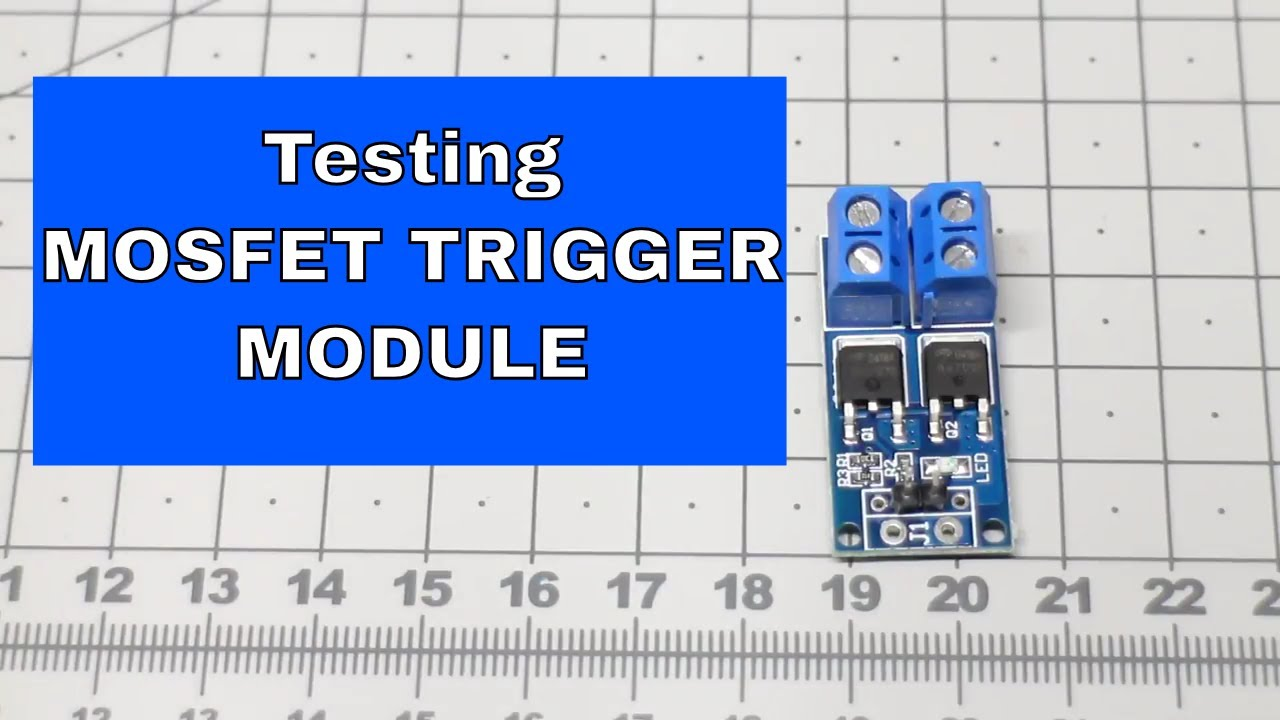 Demonstrating N-channel Mosfet module |From ICStation.com on