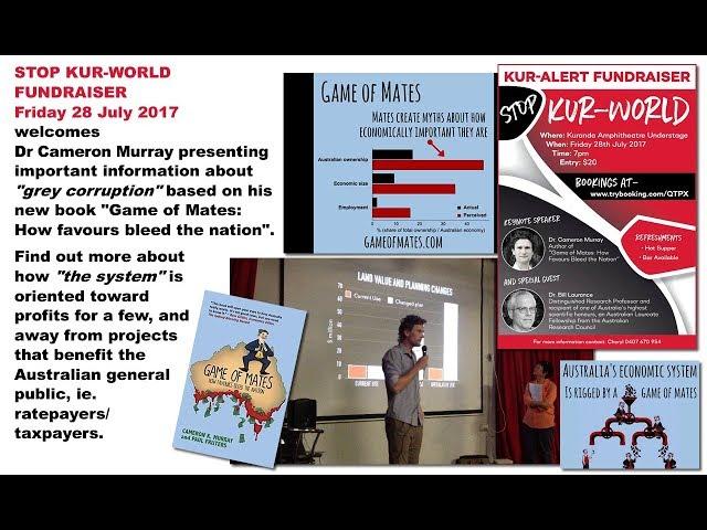 STOP KUR World Fundraiser 28 July 2017 Cameron Murray