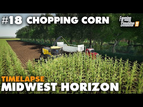 Midwest Horizon Timelapse #18 Chopping Corn Farming Simulator 19