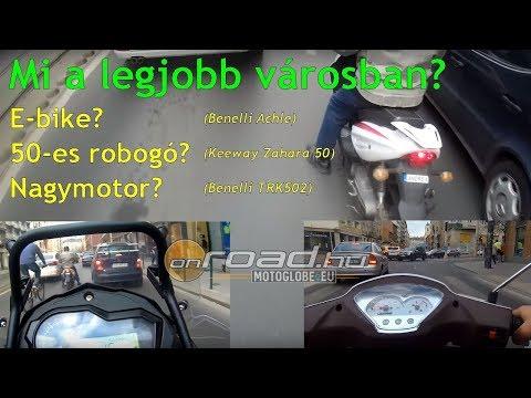 Mi a jobb városban? Az E-bike, a kis robogó vagy egy nagymotor? - Onroad.hu