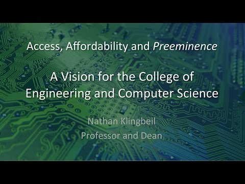 Dean Klingbeil's Vision for Wright State's College of Engineering and Computer Science