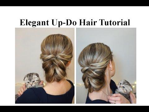 Повседневная прическа с резинками ♥ Деловая прическа ♥ Elegant Up-Do Hair Tutorial