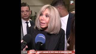 Brigitte Macron en visite dans les quartiers nord