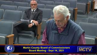 Martin County Board of County Commissioners  - Afternoon -  Sept 14, 2021