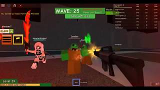 playing zombie atack in roblox #2
