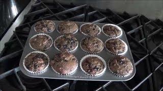 Whole-wheat Blueberry Bran Muffins