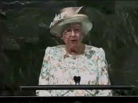 Her Majesty Queen Elizabeth II addresses the United Nations General Assembly