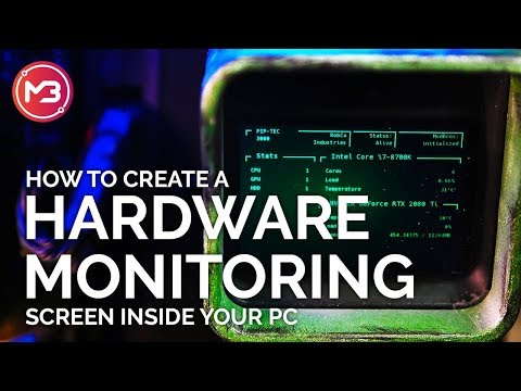 How To Create A PC Hardware Monitoring Screen Inside Your Case