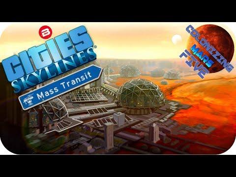 Cities Skylines Scenario: WANT TO LIVE ON MARS? Cities Skylines Surviving Mars Station Beta #5