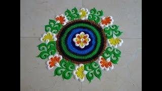 Very easy and quick rangoli using bangles | Easy rangoli designs by Poonam Borkar