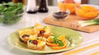 Baked Egg Cups with al fresco Country Style Breakfast Chicken Sausage