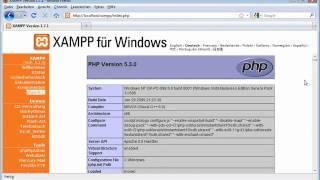 PHP 5.3 und MySQL 5.1 - 03. Die XAMPP-Testumgebung