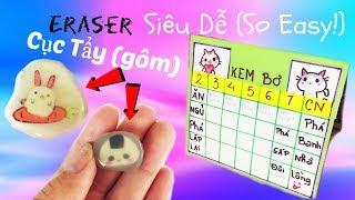 Cách Làm Cục Tẩy (Gôm) Siêu Dễ - Easy Eraser DIY - Thời Khoá Biểu
