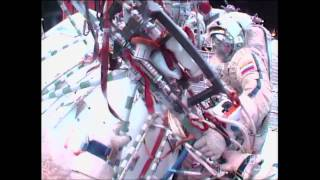 ISS Russian Spacewalkers Run Into Snag With Camera Installation