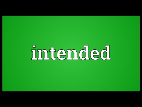 Intended Meaning