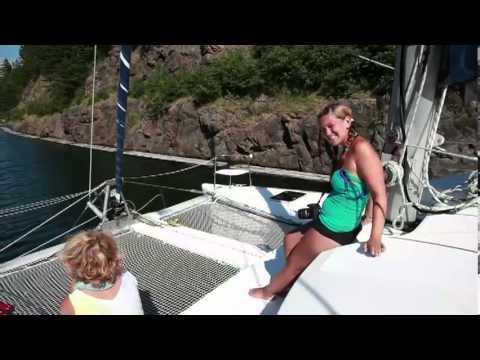 Catamaran Sailing Cape Breton Nova Scotia St. Peters Canal