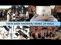 MY TWIN BABY SHOWER! SPACE NK MAKE UP HAUL