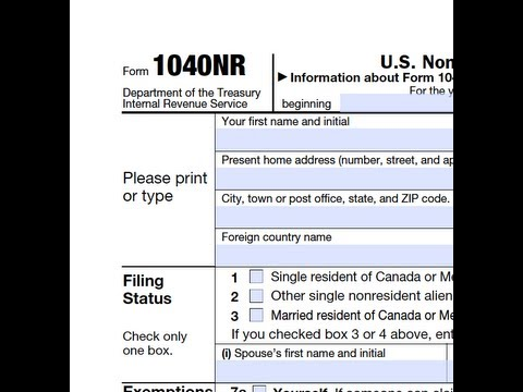 How To Extend Form 1040nr Youtube