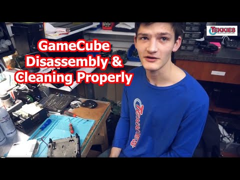 Game Cube Disassembly & Cleaning Properly! Tekkies Repair