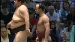 明瀬山vs隆の山 十両取組 2013/7/20