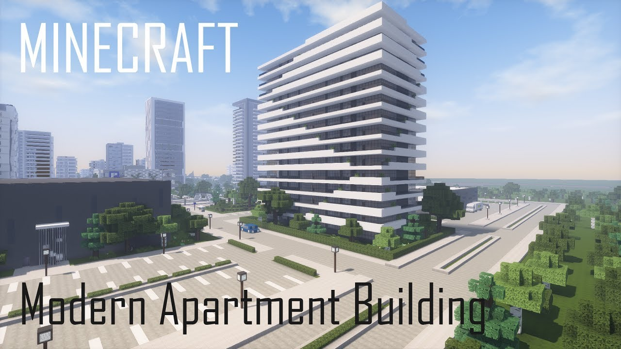 Minecraft Modern Apartment Building 12 (full interior) + Download