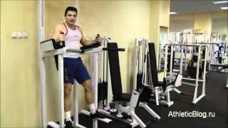 Подъём коленей на стойках для пресса. Обучающее видео.(Как быстро убрать живот и бока - программа тренировок для мужчин: http://www.athleticblog.ru/?page_id=6335 Как быстро убрать..., 2011-11-17T16:52:03.000Z)