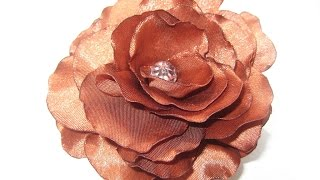 DIY Заколка роза из лент. Мастер класс \ Beautiful hairpin ribbons