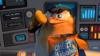 Penguins of Madagascar - Cute penguin Skipper chewing Cheezy Dibbles
