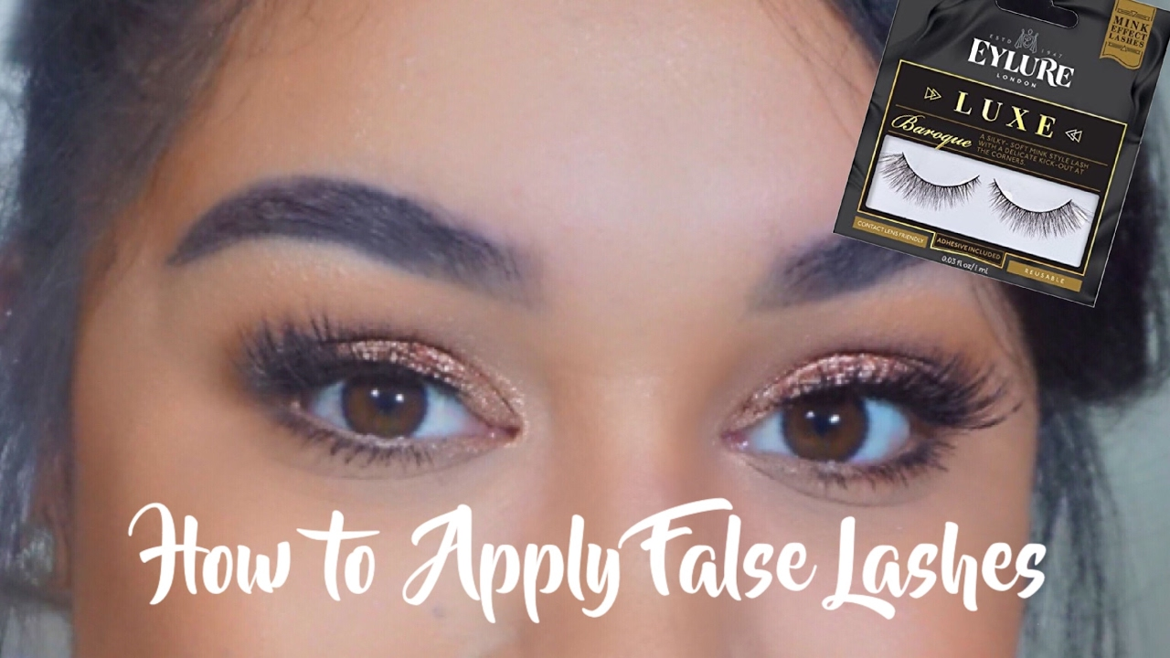 0035b6ae843 HOW TO: APPLY FALSE LASHES | EYLURE LUXE LASHES BAROQUE | ROCIO DIAZ ...