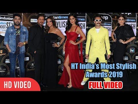 UNCUT - HT Most Stylish Awards 2019 | Shahrukh Khan, Ranveer, katrina, Akshay, Anushka Mp3