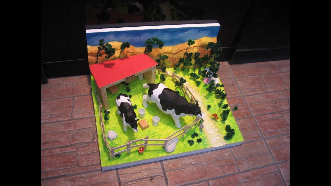 Maqueta de la vaca youtube for Como hacer un criadero de cachamas
