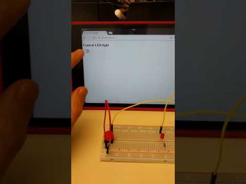 W3Schools Node.js Raspberry Pi LED Controlled By Browser And Physical Button